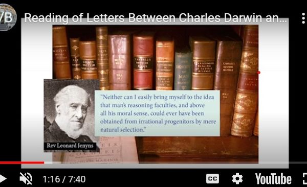Letters Between the Friends Leonard Jenyns and Charles Darwin