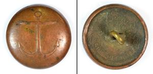 Russian uniform buttons. Naval, front and back (EUR128)