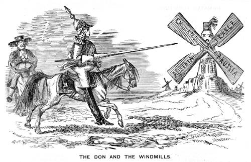 Cartoon of Don Quixotes